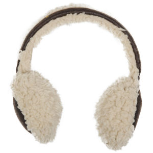 Women's Faux Sheepskin Earmuffs - Chocolate