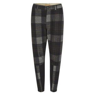 BOSS Orange Women's Loose Checked Trousers - Brown