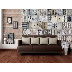 Creative Collage Typography 64 Piece Wallpaper