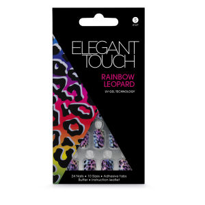 Elegant Touch Design Nails - Rainbow Leopard