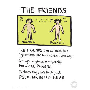 Edward Monkton Fine Art Print - Friends