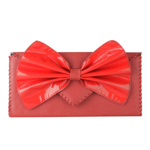 Nook & Willow Bow Clutch - Red