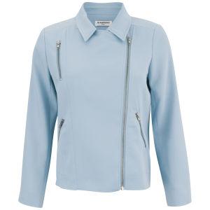 Glamorous Women's Asymmetric Biker Jacket - Blue