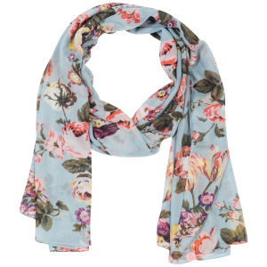 Joules Wensley Scarf - Atlantic Blue Floral
