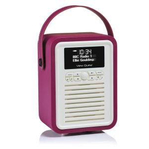 View Quest Retro Mini Bluetooth DAB+ Radio in Tiefpurpur