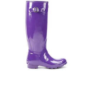 Hunter Women's Original Tall Gloss Wellies - Sovereign Purple