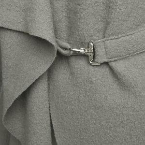 GROA Women's Boiled Wool Jacket - Light Grey: Image 3