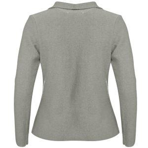 GROA Women's Boiled Wool Jacket - Light Grey: Image 2