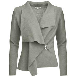 GROA Women's Boiled Wool Jacket - Light Grey: Image 1