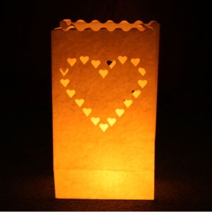 Candle Bags 5 pack - Large Heart Candle Bags