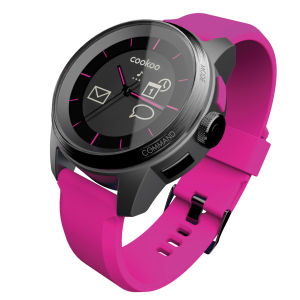 Cookoo Smartwatch - Black on Pink