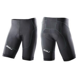 2XU Men's G:2 Long Distance Triathlon Shorts - Black/Mint Green