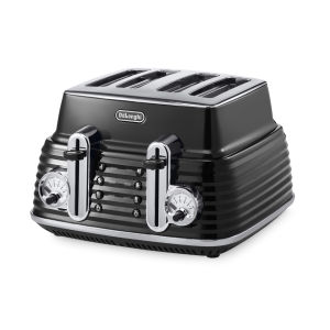 De'Longhi CTZ4003 Scultura 4 Slice Toaster - Black High Gloss