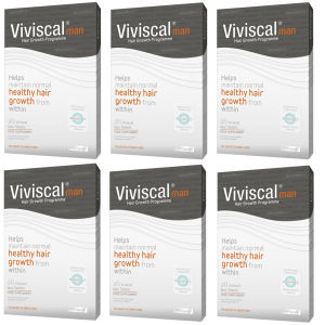 Viviscal Man Hair Growth Supplement (6 x 60 stk) (6 måneders forsyning)