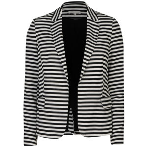 Glamorous Women's Striped Blazer - White/Black