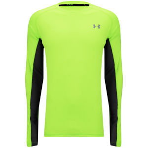 Under Armour Men's Heatgear Flyweight Long Sleeve Running T-Shirt - Hyper Green/Reflective