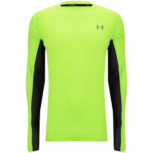 Under Armour Men's Heatgear Flyweight Long Sleeve Running T-Shirt - Hyper Green/Reflective