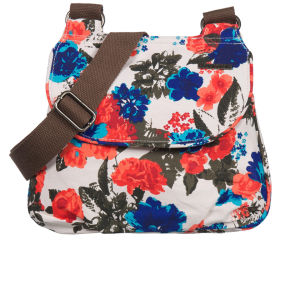 Animal Borshi Small Cross Body Bag - Cream/Floral Print
