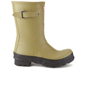 Hunter Men's Original Two Tone Short Wellies - Light Olive
