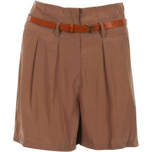 VILA Women's Calbee Shorts - Pecan Brown