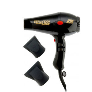 Parlux 3200 Compact Ceramic Ionic Hair Dryer - Black - Brittisk stickkontakt