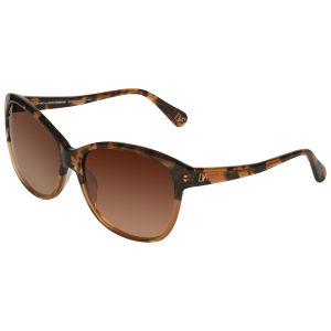 Diane von Furstenberg Kendra Oversized Plastic Sunglasses - Dark Brown