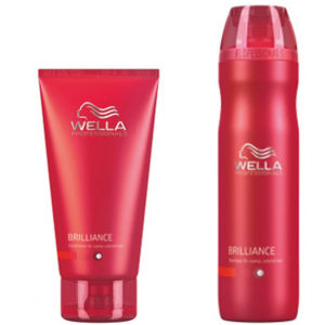Wella Professionals Brilliance Duo for Fine to Normal Coloured Hair- Shampooing et après-shampooing