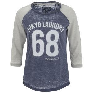 Tokyo Laundry Women's Bella Three Quarter Sleeve Top - Eclipse Blue