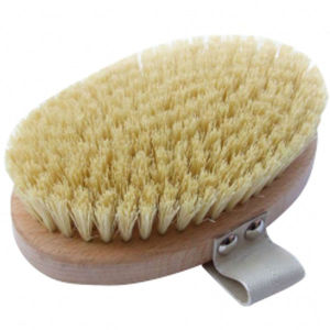 Hydrea London Beech Wood Body Brush With Cactus Fibre Bristles -vartaloharja