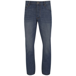 Brave Soul Herren Spectra Regular Fit Jeans - Blau