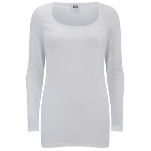 Vero Moda Women's Maxi Long Sleeved Basic Top - Op White