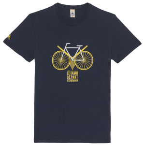 Le Coq Sportif Tour de France N13 Short Sleeved T-Shirt - Blue