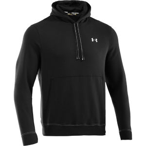 Under Armour Men's Charged Cotton Storm Transit Hoody - Black/White