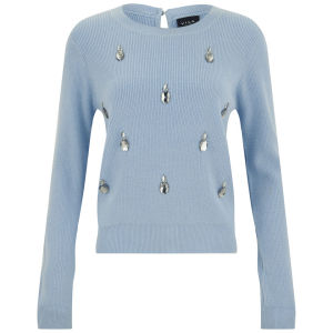 VILA Women's Williamson Jumper - Blue Frog