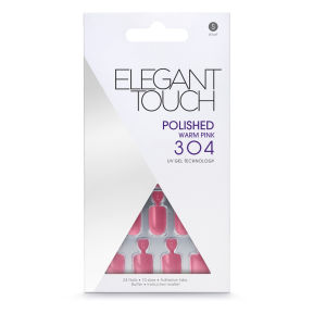 Elegant Touch Polished Nails Warm Pink