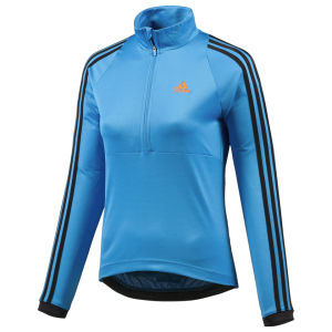 Adidas Response Long Sleeve Jersey - Solar Blue/Black