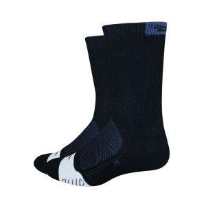 DeFeet Thermeator 6 Inch Cuff Socks - Black/Grey