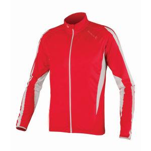 Endura FS260 Pro JetStream III LS FZ Cycling Jersey - Red/White