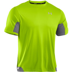Under Armour Men's Heatgear Flyweight Running T-Shirt - Hyper Green/Graphite