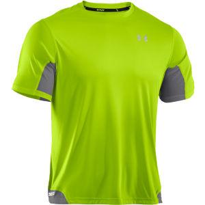 Under Armour Men's Heatgear Flyweight Running T-Shirt - Hyper Green/Graphite