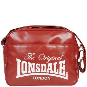 Lonsdale Front Pocket Messenger Bag - Red