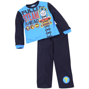 Thomas The Tank Engine Jungen Full Speed Ahead Pyjama Set - Blau/Royalblau