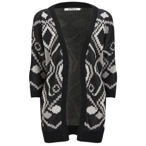 ONLY Women's Desert Long Knitted Cardigan - Whisper White