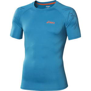 Asics Men's Tiger Running Top - Atlantic Blue