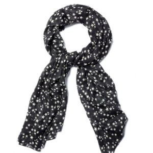 Norr Petit Star Print Scarf - Black