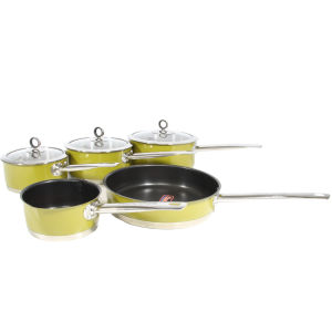 Morphy Richards Accents 5 Piece Pan Set - Green