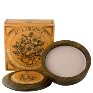 Trumpers Almond Oil Hard Shaving Soap skål av tre - 80 g