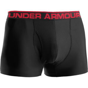 Under Armour Men's The Original 3 Inch Boxerjock - Black/Red