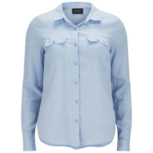 VILA Women's Vidensy Shirt - Blue Fog