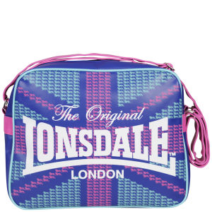 Lonsdale Logo Front Messenger Bag - Blue